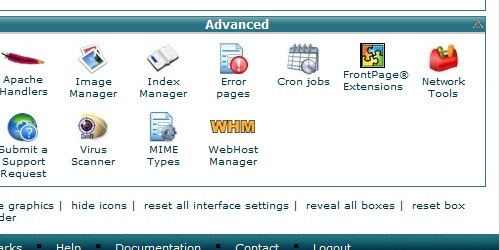 Locate the Cron Job icon